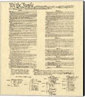 Framed Constitution on Khaki
