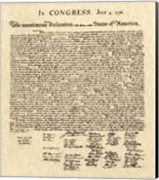Framed Declaration of Independence Khaki