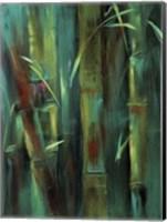 Framed Turquoise Bamboo I