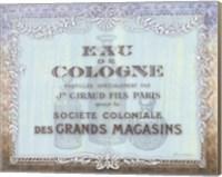 Framed French Soap Label I