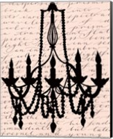 Framed Chandelier Calligraphy I - mini