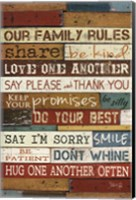 Framed Our Family Rules I