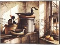 Framed Crocks And Fowl