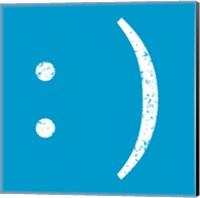 Framed Blue Smiley