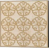 Framed Floral Trellis I