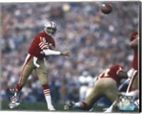 Framed Joe Montana Super Bowl XIX 1985 Action