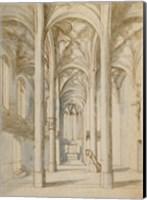 Framed Interior of a Gothic Church
