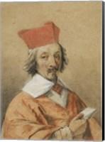 Framed Portrait of Armand-Jean du Plessis, Cardinal de Richelieu