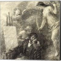 Framed Discouraged Artist