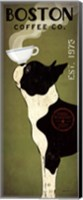 Framed Boston Terrier Coffee Co
