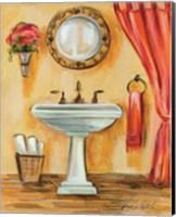 Framed Tuscan Bath IV