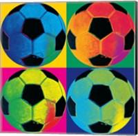 Framed Ball Four-Soccer