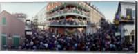 Framed People celebrating Mardi Gras festival, New Orleans, Louisiana, USA