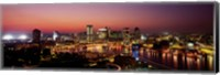 Framed Baltimore with Pink Sky at Dusk