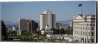 Framed Utah State Capitol Building, Salt Lake City Council Hall, Salt Lake City, Utah, USA
