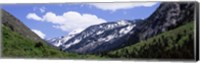 Framed Clouds over mountains, Little Cottonwood Canyon, Salt Lake City, Utah, USA
