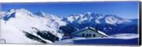 Framed Alpine Scene In Winter, Switzerland