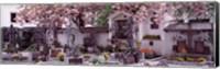 Framed Flowers on tombstones, Tirol, Austria