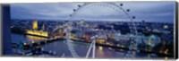 Framed Ferris wheel in a city, Millennium Wheel, London, England