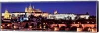 Framed Charles Bridge, Hradcany Castle, St. Vitus Cathedral, Prague, Czech Republic