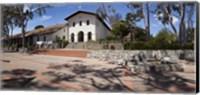 Framed Facade of a church, Mission San Luis Obispo, San Luis Obispo, San Luis Obispo County, California, USA