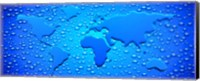 Framed Water drops forming continents