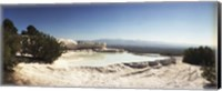 Framed Hot springs and Travertine Pool, Pamukkale, Turkey