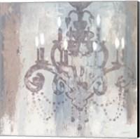 Framed Candelabra Teal II