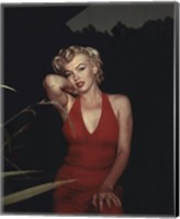 Framed Marilyn Monroe 1954 Red Dress