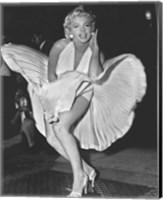 Framed Marilyn Monroe 1954, New York City