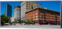 Framed Buildings in a downtown district, Salt Lake City, Utah
