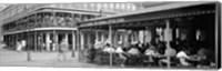 Framed Black and white view of Cafe du Monde French Quarter New Orleans LA