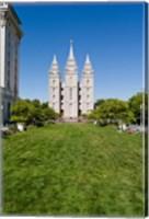 Framed Mormon Temple, Temple Square, Salt Lake City, Utah