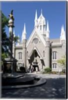 Framed Facade of the Salt Lake Assembly Hall, Temple Square, Salt Lake City, Utah, USA