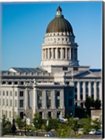 Framed Utah State Capitol Building, Salt Lake City, Utah, USA