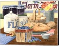 Framed Blueberry Pie
