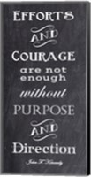 Framed Efforts & Courage Quote