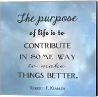 Framed Purpose of Life Square
