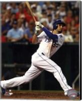 Framed Eric Hosmer Baseball Bat Swing