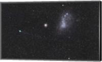 Framed Comet Lemmon next to the Small Magellanic Cloud