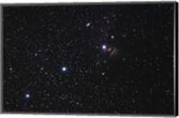 Framed Orion's Belt, Horsehead Nebula and Flame Nebula