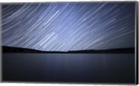 Framed Star trails of the celestial equator in Somuncura, Argentina