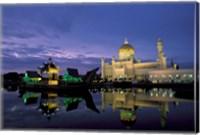 Framed Sultan Omar Ali Saifuddin Mosque, Brunei
