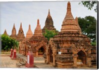 Framed Myanmar (Burma), Bagan (Pagan), Bagan temples