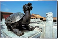 Framed China, Beijing, Forbidden City, Turtle statue