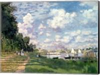 Framed Marina at Argenteuil, 1872