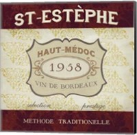 Framed Burgundy Wine Labels III