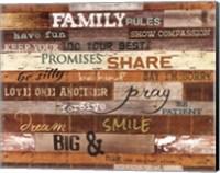 Framed Family Rules