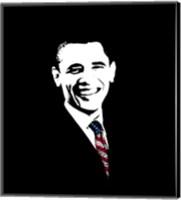 Framed President Barack Obama with Flag Tie