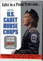 Framed US Cadet Nurse Corps - A Lifetime Education Free
